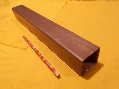 """2"""" SQUARE 304 STAINLESS STEEL TUBE tubing stock welded .120"""" wall x 2"""" x 15"""""""