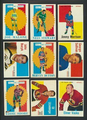 1960-61 Topps NHL Hockey Cards  U-Pick Choose Single Cards to Complete Set  USA