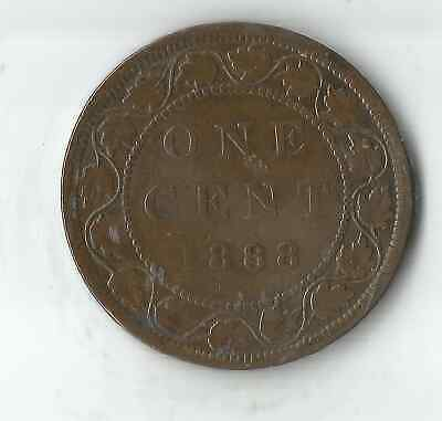 1888 Queen Victoria Canada One Cent Large Penny Coin