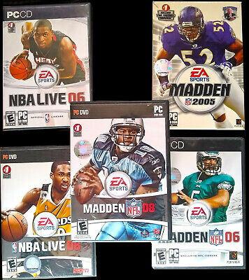 PC Sports Game Lot - EA Sports - Classic Madden Games, NBA Live Games