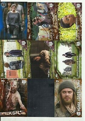 Awesome  Walking Dead Serial #D Lot !!! Mold, Mud, Blue, Rust! Inserts+More! #1