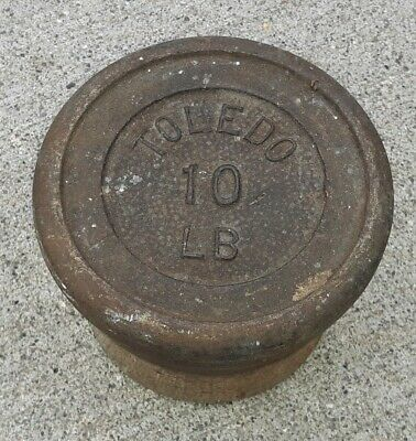 Antique Toledo Scale Company 10 Pound Weight VINTAGE OLD Estate sale find