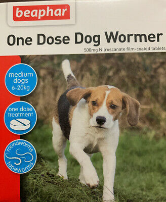 Beaphar One Dose Wormer 2 Tab for Dogs
