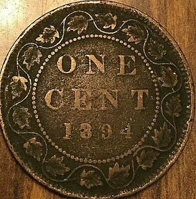1894 Canada Large Cent Large 1 Cent Penny