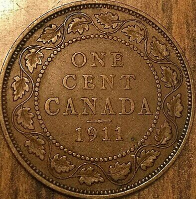 1911 Canada Large Cent Large 1 Cent Penny