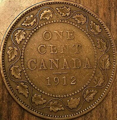 1912 Canada Large Cent Large 1 Cent Penny