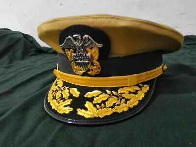 New Us navy Commander Admiral Rank Cap All Size R N Commanders