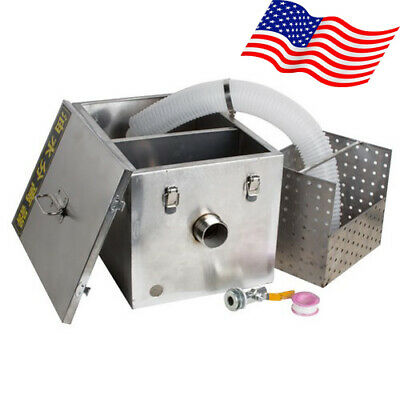 Grease Trap Interceptor Set For Restaurant Kitchen Wastewater Removable US FDA