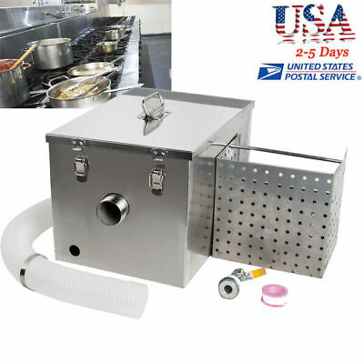 Grease Trap Interceptor Set For Restaurant Kitchen Wastewater Removable USA CE