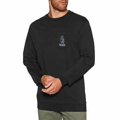 Rip Curl Set Up Crew Jumper Sweater - Washed Black All Sizes