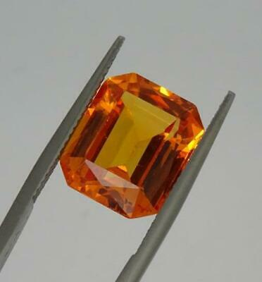 Vintage Synthétique Orange Sapphire-Emerald Coupe, 10.50ct, 1960's