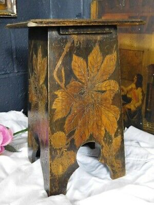 A Good Decorative Antique Arts & Crafts Stool Or Stand