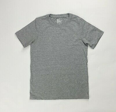 The Original Nike Tee Youth Boys Girls Athletic Cut Short Sleeve Shirt Gray