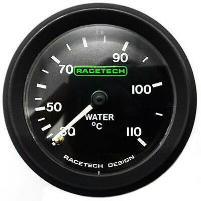 Racetech 52mm Water Temperature Gauge Mechanical Backlit With 7ft Capilary