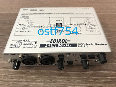 EDIROL Roland UA-25 USB Audio Capture MIDI Interface 24Bit / 96kHz