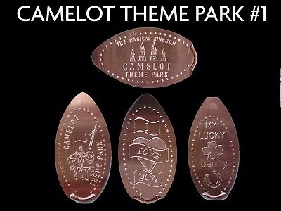 UK Elongated Coin Pressed Penny Camelot park 1 collection full set retired rare