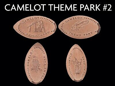 UK Elongated Coin Pressed Penny Camelot park 2 collection full set retired rare