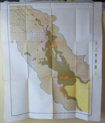 1903 Antique Alkali Map California Indio Thermal Myoma Walters 22 X 27 #9996