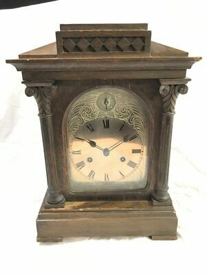 Antique HAC Oak Case Palisade Chiming Mantle Clock for Repair | ref 20686