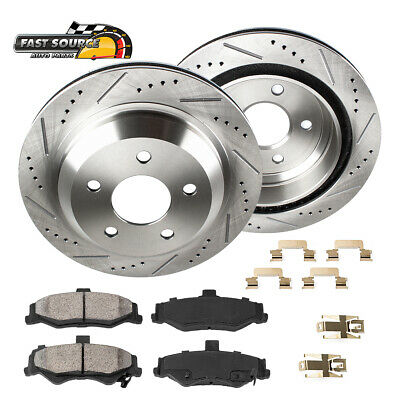 Front Drill Slot Brake Rotors /& Ceramic Pads For Lacrosse Regal Malibu Saab 9-5
