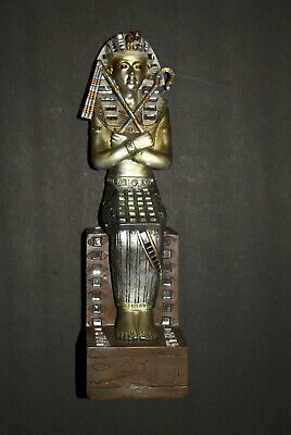 """New 14"""" Ancient Egyptian Throne Sitting Pharaoh Figurine Statue Unique"""