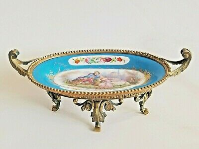 Antique French Sevres Porcelain Gilt Bronze Centerpiece