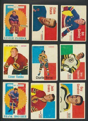 1960-61 Topps NHL Hockey Cards  U-Pick Choose Single Cards to Complete Set