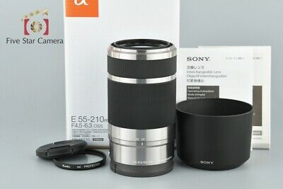 Excellent+++!! Sony E 55-210mm f/4.5-6.3 OSS SEL55210 Silver w/ Box