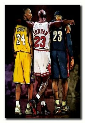 569 New Great Star Kobe Bryant James Michael Jordan Poster 14x21 40 24x36