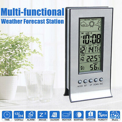 Indoor Outdoor Thermometer Humidity Sensor Wireless Digital LCD Weather Station