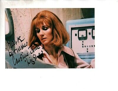Caroline John as Liz Shaw in Dr Who Signed Autographed 6x4 Col Photo