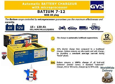 Gys Automatic Electronic Battery Boost Smart Charger 6V 12V 130Ah Ultra Quick