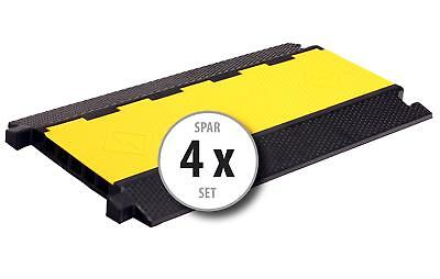 4x 5-Channels Cable Protector Ramp Safety Conduit Wire Cover Heavy Duty 7.5T Set