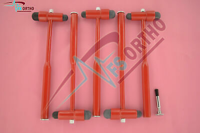 Buck Neurological Hammer Medical Surgical Instruments Red Color Lot of 50 Pcs