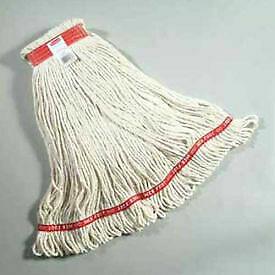 "Web Foot Large Cotton/Synthetic, Wet Mop Heads W/ 1"" Headband, White 6/Pack -"
