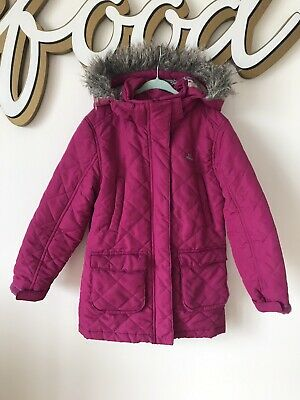 Trespass Girls Padded Pink Jacket Removable Hood 5-6 Years