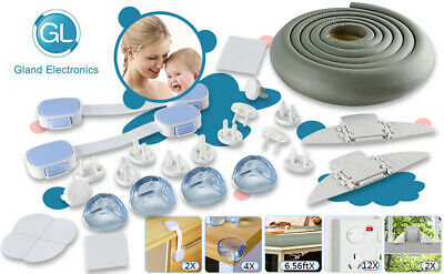 Baby Proofing Kits Safety Locks Guards Bumper For Kids, Child, Children BPA Free