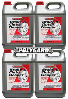 4x Polygard - Brake & Clutch Cleaner Removes Oil, Grease, Dust Polyguard 5L