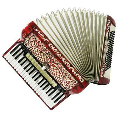 Horch Deluxe 120 Bass, Perfect German Piano Full Size Accordion Super Sound 1284