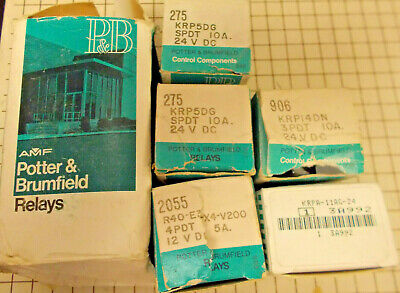 LOT OF 6 Potter & Brumfield Relays NOS