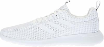 Adidas Mens Lite Racer CLN Fabric Low Top Lace Up, White/White/Grey, Size 8.5 z6