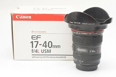 Canon EF 17-40mm F/4.0 L USM Lens - Black ***Boxed with lens hood and pouch***