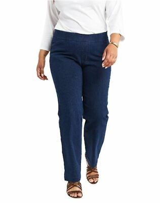 Chic Classic Collection Womens Plus Size Easy Fit Elastic Waist Pull On Pant 24W