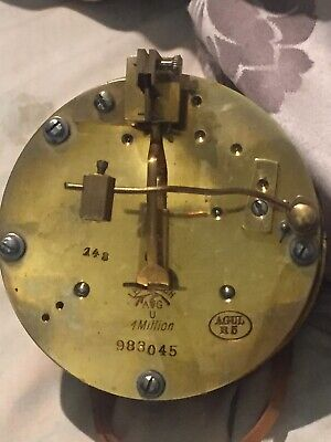 "Vintage 1890 German, ""LENZKIRCH"" AGU 1 Million 983045 Clock's Movement For Parts"