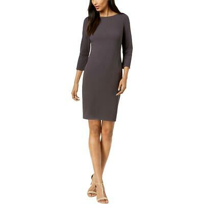 Calvin Klein Womens Gray Sheath Scuba Scuba Dress Petites 4P BHFO 1454