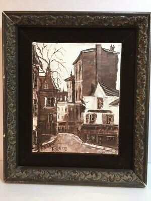 VINTAGE 1972 SIGNED OIL IN SEPIA TONES BY TASKO [Painting No. 1]