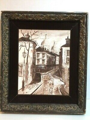 VINTAGE 1972 SIGNED OIL IN SEPIA TONES BY TASKO [Painting No. 2]