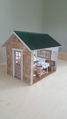 Miniature Dollhouse She-Shed Kit 1:12 Room box Birch Wood by Simple Shacks USA