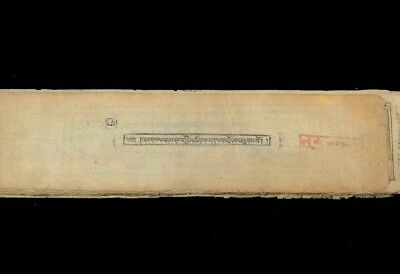 18-19Th Century Antique Tibetan Buddhist Woodblock Manuscript With Seal