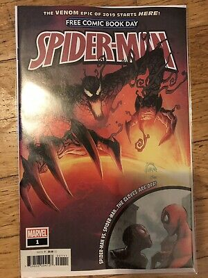 "Spider-Man #1 Free Comic Book Day Edition /""The Venom Epic of 2019/"" Marvel UNREAD"
